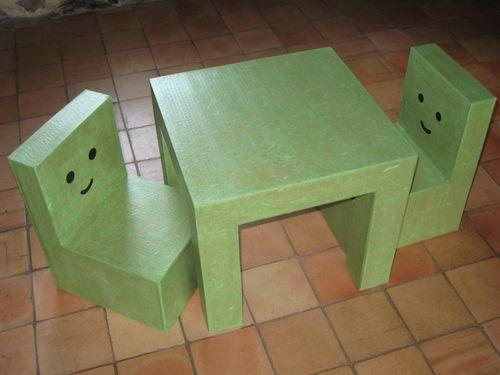 chaises et table pour tout petit