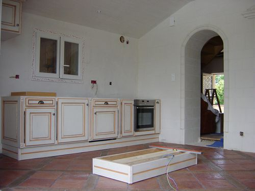 meuble cuisine exterieur inox