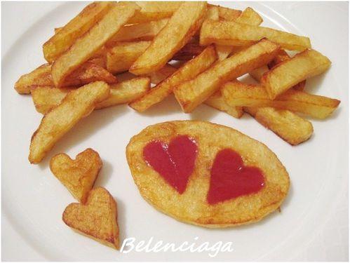 Patatas con corazn para Luca  Belenciaga paso a paso
