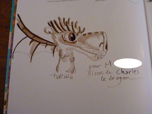 dédicace Charles le dragon