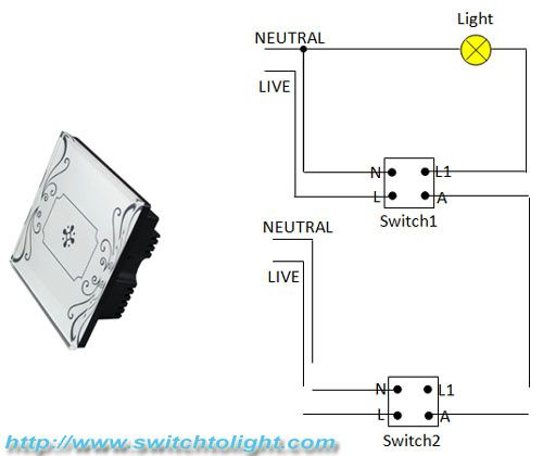 wiring diagram for a two way switched light ford radio harness difference between traditional switch and electrical touch 4 jpg