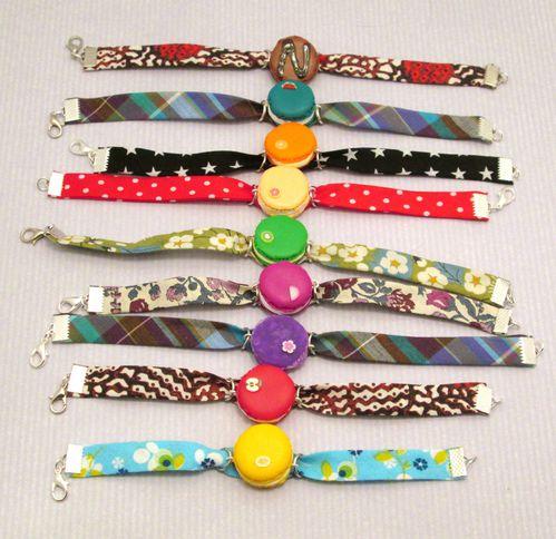 Bracelet biais macaron