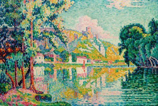 Paul Signac Les Andelys. Château-Gaillard. light