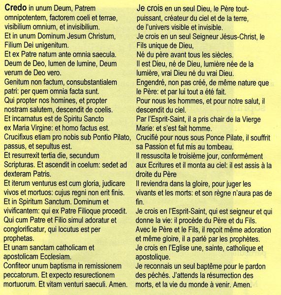 Kyrie  Gloria  Credo  Sanctus  Agnus Dei Textes