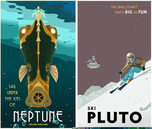 Affiches Rétro SF De Steven Thomas 36 Quai Du Futur