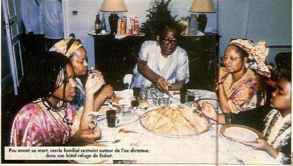 Mobutu et famille au Maroc