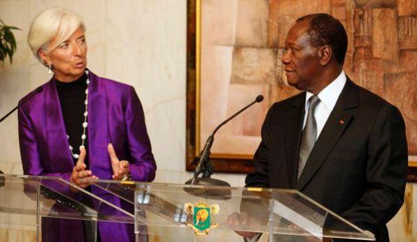 Dramane Ouattara et Christine Lagarde
