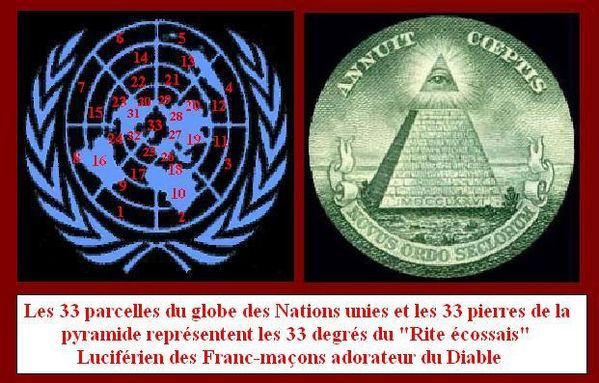 ONU illuminati 33 degrés TOILE ARAIGNEE