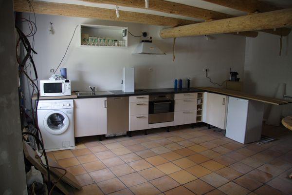 meuble cuisine volet roulant