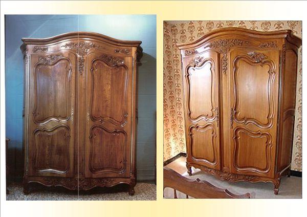 armoire louis xv copie d ancien