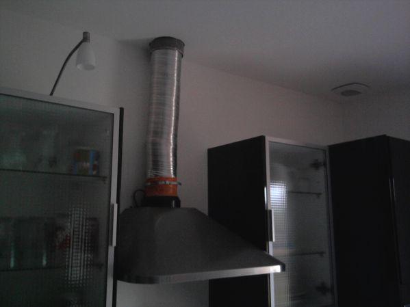 installation d une hotte de cuisine
