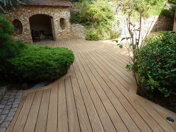 terrasse en bois Palaiseau 91 en Afrormosia  France terrasse bois