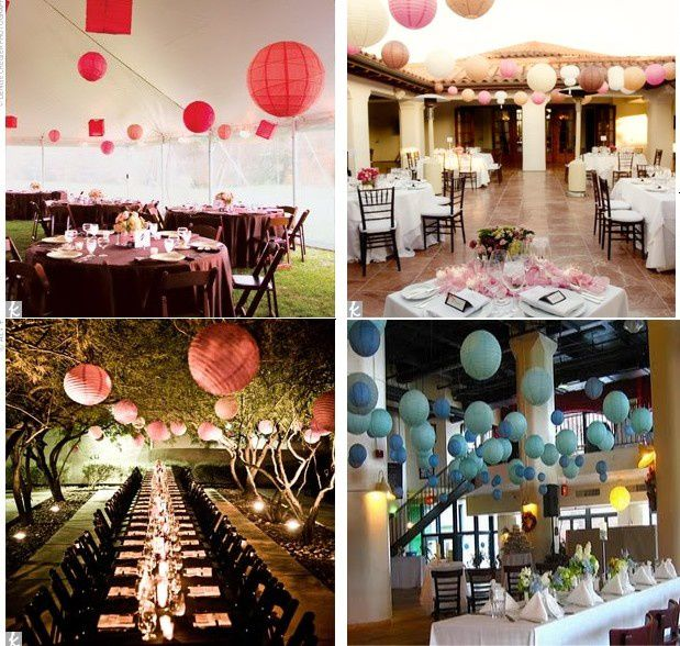 lanterne deco de salle lanterne en papier deco salle mariage