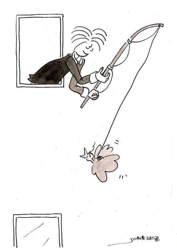 wilfried et théo - vole en canne à pêche