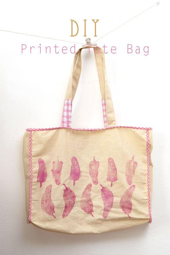 DIY printed tote bag 1