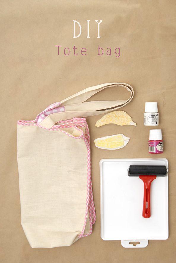 DIY tote bag stamp it