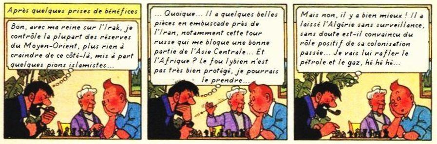 Tintin et le PON - partie d'échecs