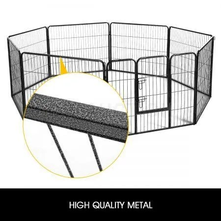 8 Panel 100x100CM Pet Playpen Dog Cage Puppy Exercise