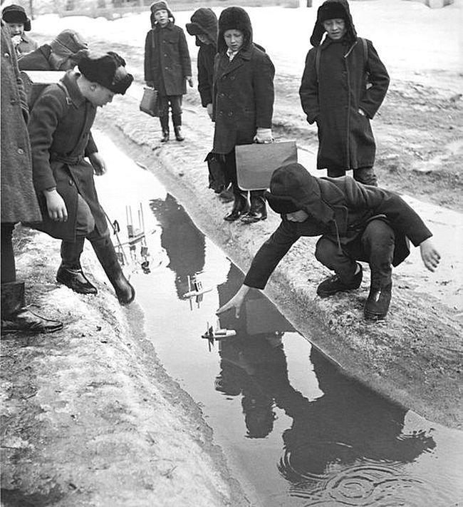 Весенняя флотилия СССР, детство, фотографии