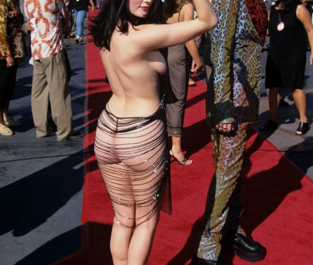 Rose Mcgowan Nude Under Slutty Dress On The Red Carpet