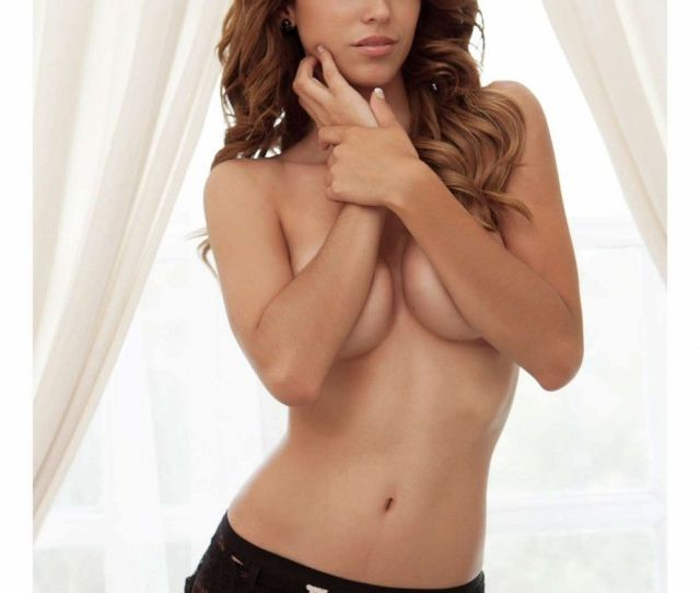 Yanet Garcia Nude Covering Her Tits