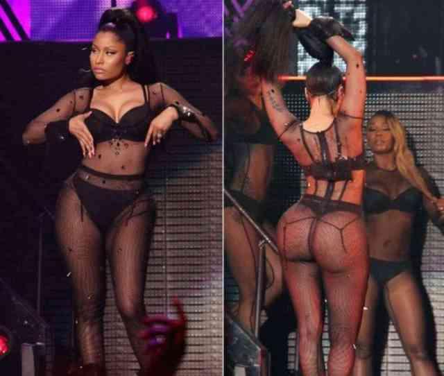 Nicki Minaj Nude Ass On The Stage In New Performance