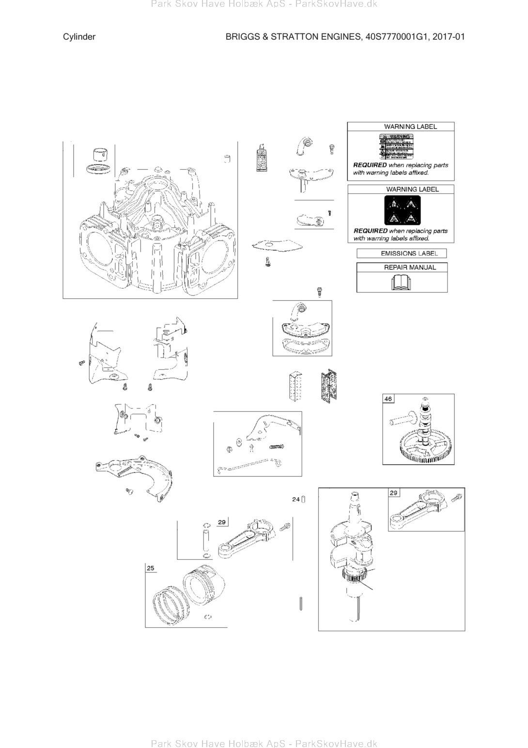 Reservedel Husqvarna Briggs & Stratton Engines