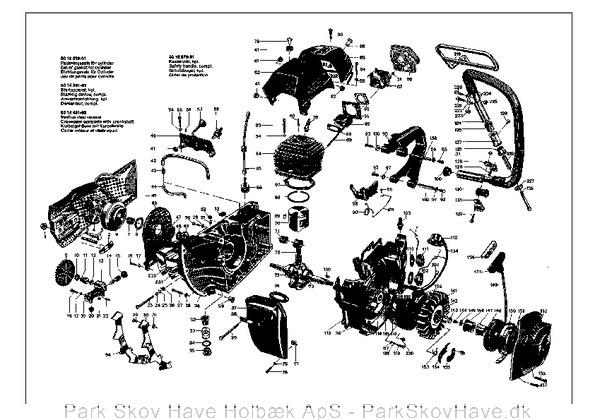 Reservedel Husqvarna 65 1976-11, Chain Saw