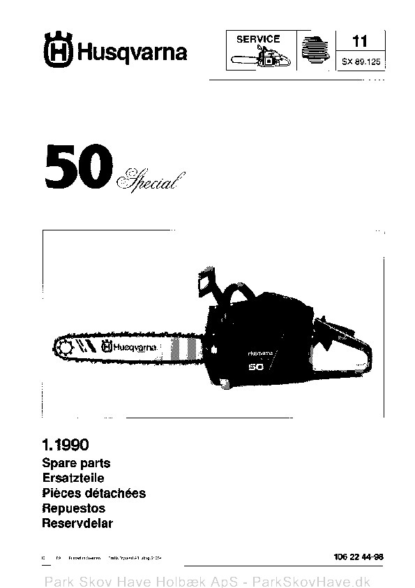 Reservedel Husqvarna 50 Special, 1989-01, Chain Saw