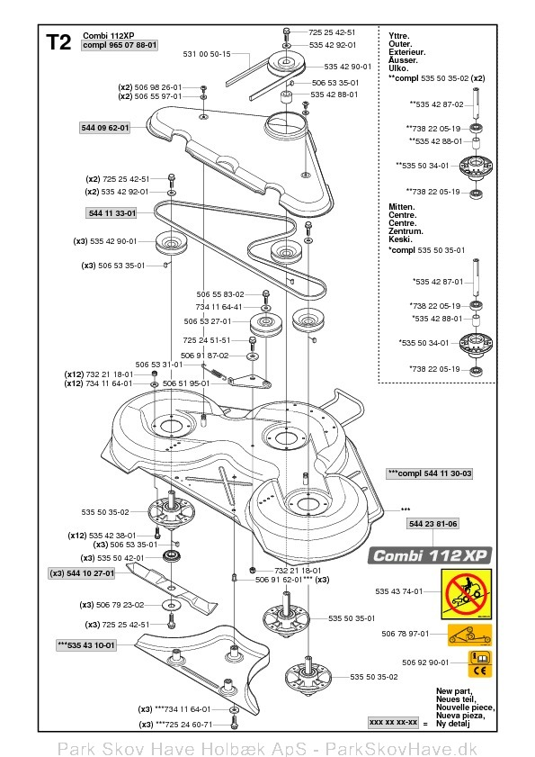 Reservedel Rider ProFlex 21, 965 09 70-01, 2007-03, Rider