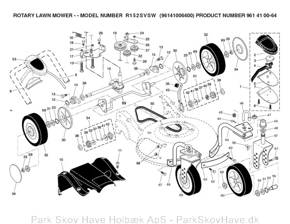 Reservedel R152 SVSW, 96141006400, 2006-02, Lawn Mower