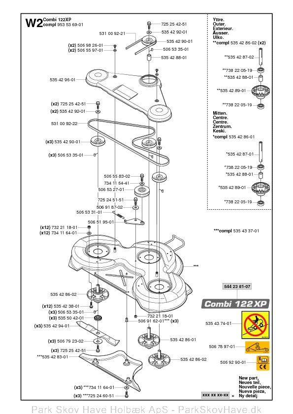 Reservedel Rider ProFlex 21 AWD, 953 53 65-01, 2005-04, Rider