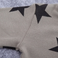 Grey Striped Star Printed Overalls Cotton Tee and Beanie