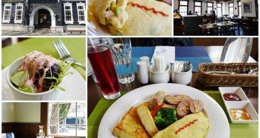 宜蘭美食 新月廣場/藍屋餐廳 假日早午餐~百年舊監獄門廳內悠閒享brunch