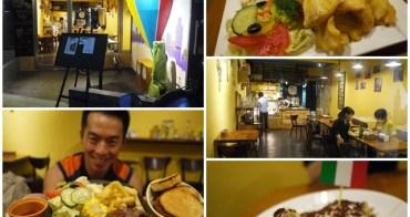 台北捷運市政府站美食 香草氣球Vb Cafe (已歇業)英式炸魚&法國骰子牛~用美食瘋世足