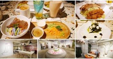 台北東區美食 無聊咖啡 AMBI- CAFÉ 創意料理下午茶~噴水池玻璃屋配五彩涼麵