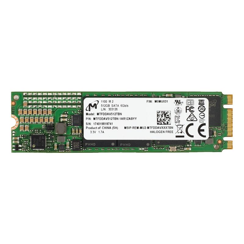 【圖】美光1100 512G M.2 SATA 2280 SSD固態硬盤圖片( Micron 1100 512G M.2 SATA 2280 SSD固態硬盤 圖片)__外觀圖片_第1頁 ...