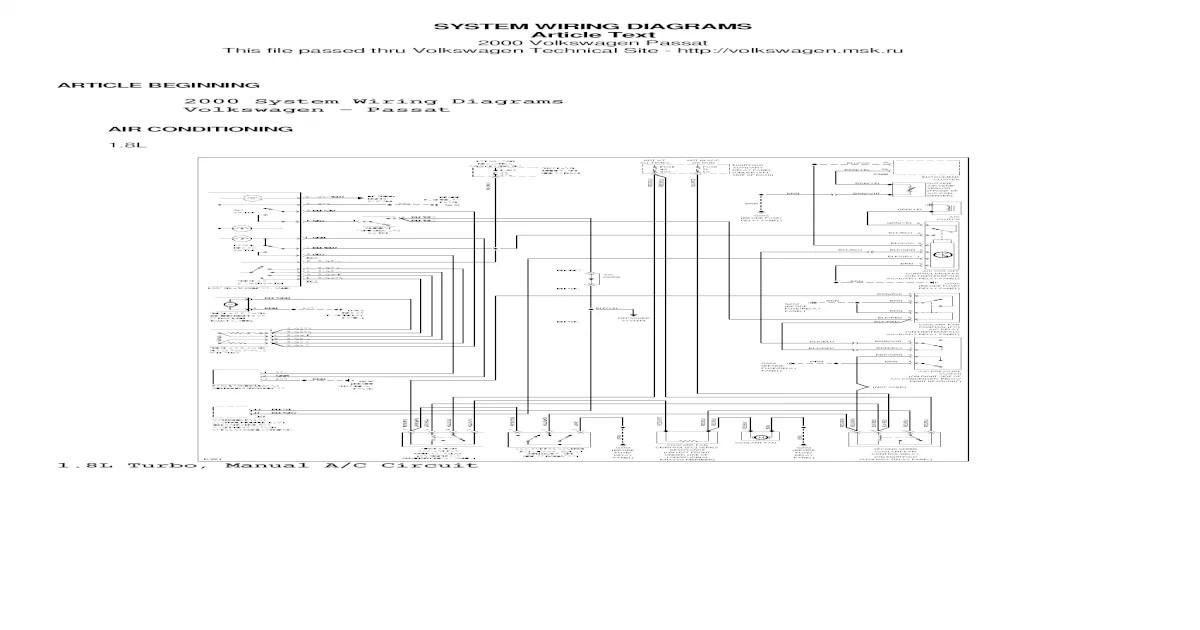 Passat B5 Wiring Diagram