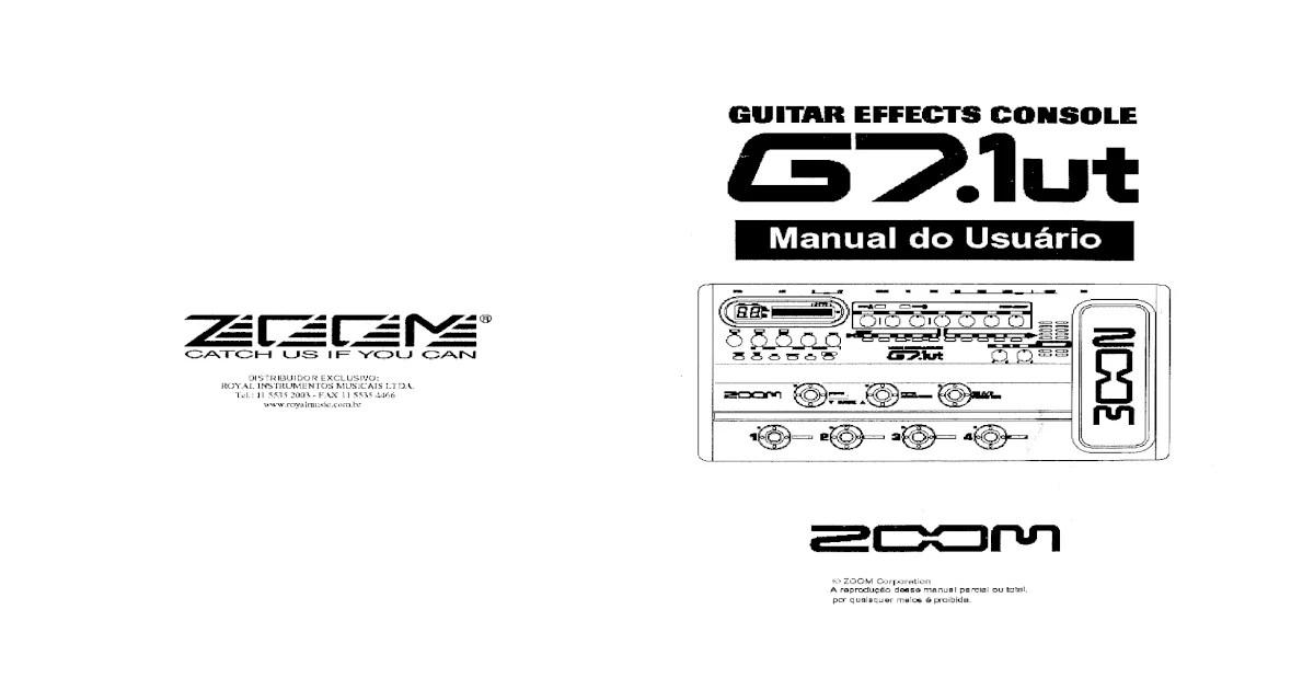 Manual Zoom G7 Portugus