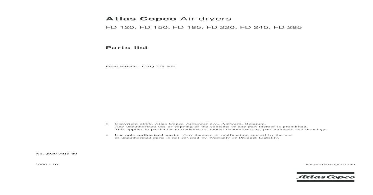 Flygt 3127 Parts List