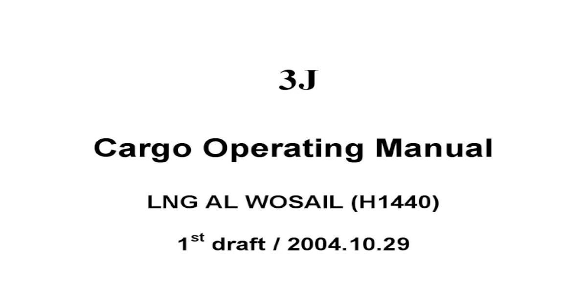 LNG Cargo Operating Manual