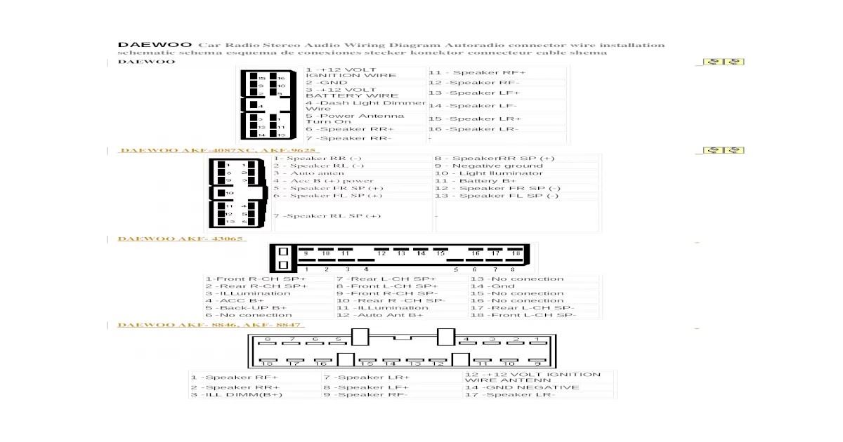 [DIAGRAM] Daewoo Matiz Oem Stereo Radio Gp Picture Wiring