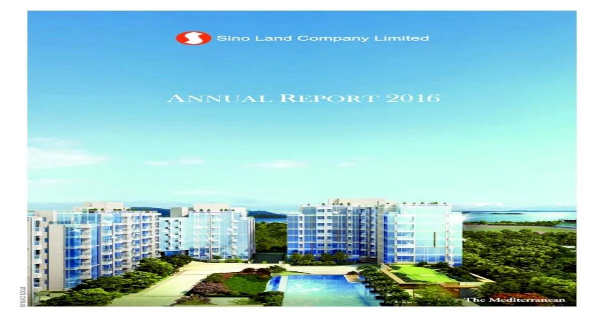 Sino Land Company Limited annuaL Repot 2016R ?· Wong Cho Bau. JP* Daryl Ng Win Kong. JP Ringo Chan…