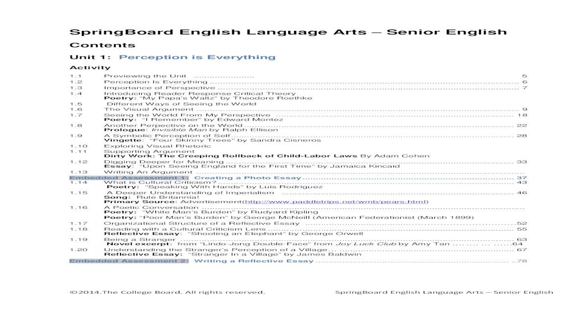 Bestseller: Springboard English Language Arts Senior