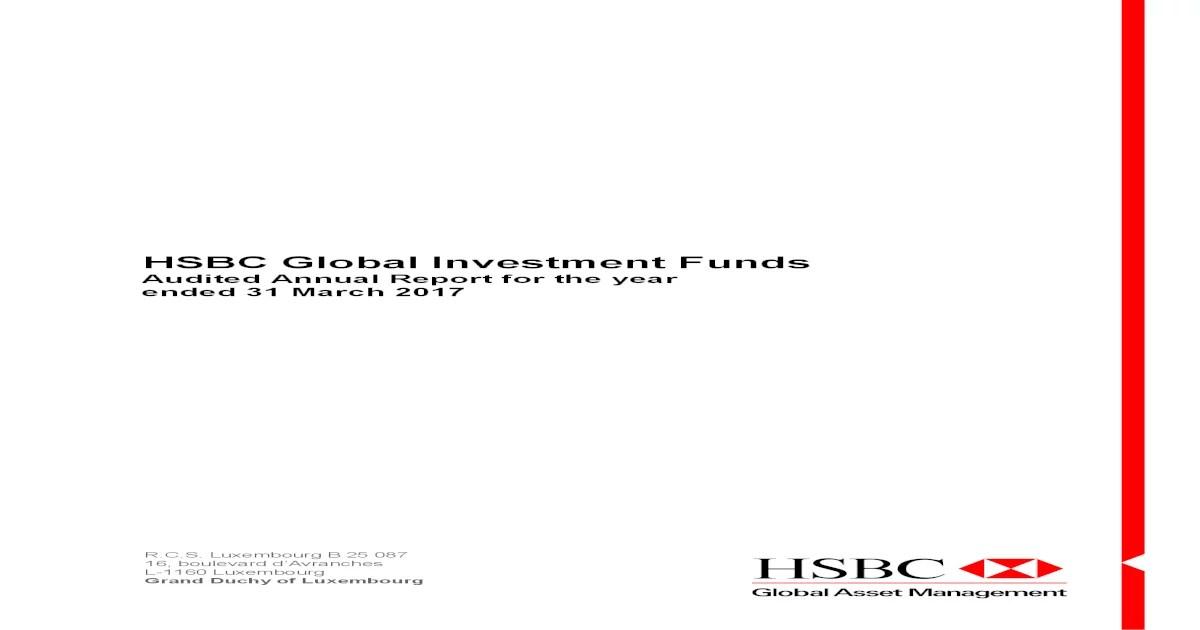 Hsbc Global Investment 1 Information Concerning The Distribution