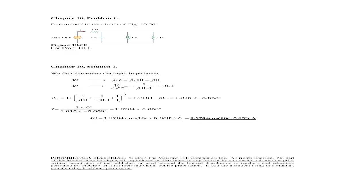 Fundamentals of Electric Circuits Alexander Sadiku Chapter