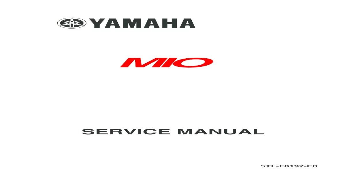 Yamaha Mio Service Manual