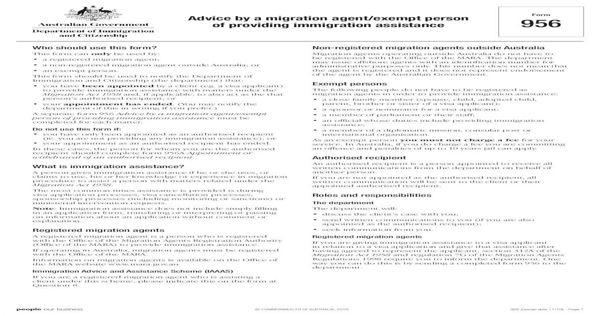Authorization Form (956) Form