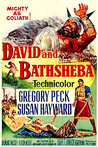 Cartel de la película David y Betsabé