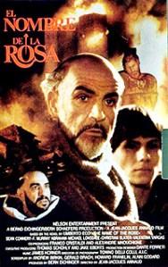 Cartel de la película El nombre de la Rosa